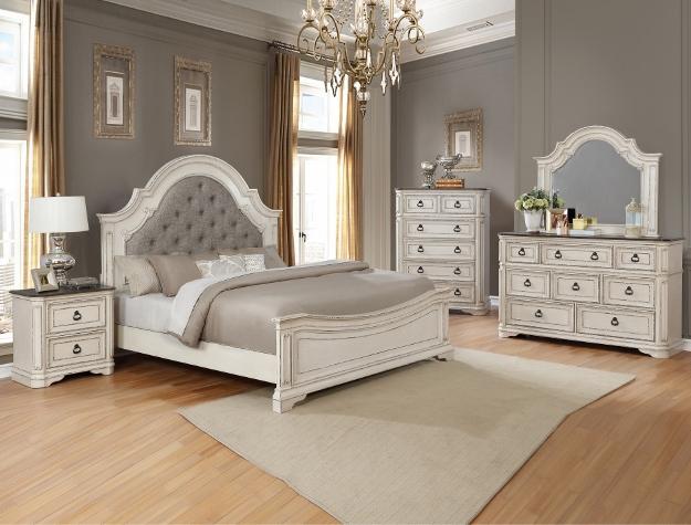 klasikiniai baldai miegamajam