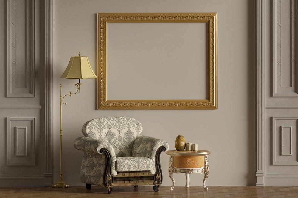 klasikinio interjero kambarys